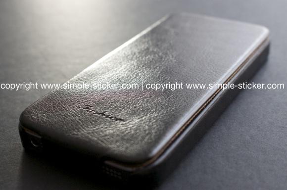 iPhone Schutzhülle / Case für iPhone 5/5S - Schwarze iPhone schutzhülle in Lederoptik