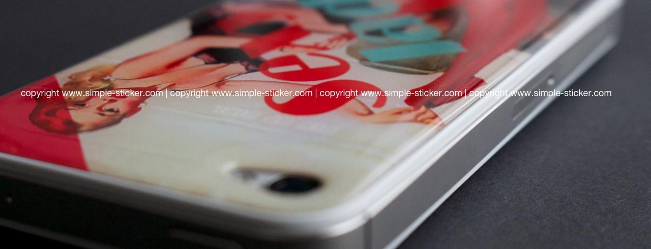 iPhone Aufkleber / Sticker 3D für iPhone 4/4S - Pin Up Girl