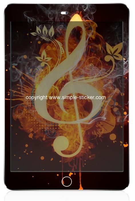 iPad mini Vollverklebung. Geeignet für iPad mini (Retina) Wi-Fi. - Magic Music Cleaf