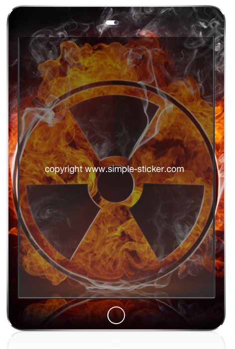 iPad mini Vollverklebung. Geeignet für iPad mini (Retina) Wi-Fi. - Radiation