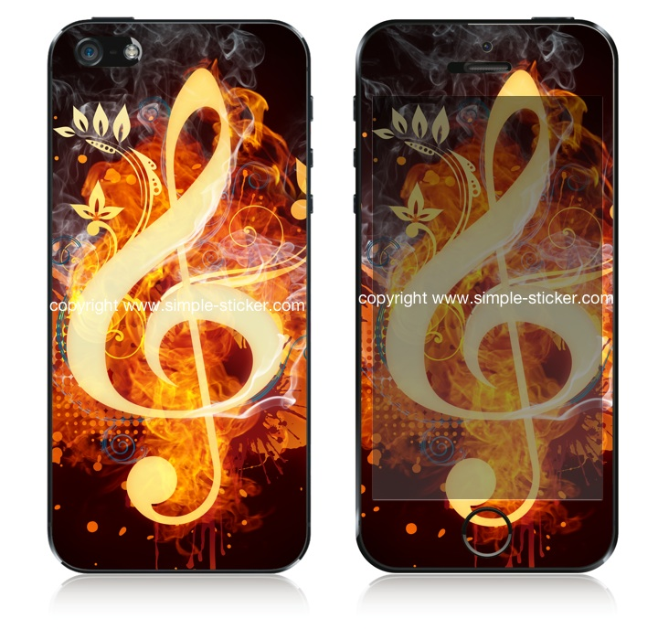 iPhone Aufkleber / Sticker für iPhone 4/4S/5/5S - Magic Music Cleaf