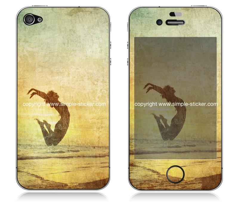 iPhone Aufkleber / Sticker für iPhone 4/4S/5/5S - Relax