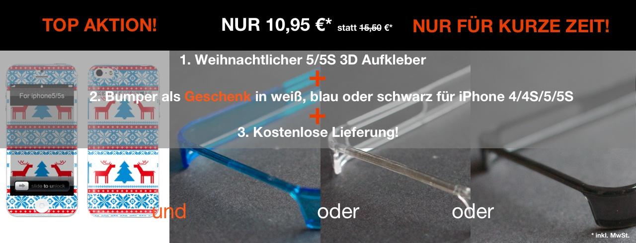 Aktion für iPhone 5/5S 3D Aufkleber/Sticker+Bumper Ihrer Wahl! - simple-sticker.com