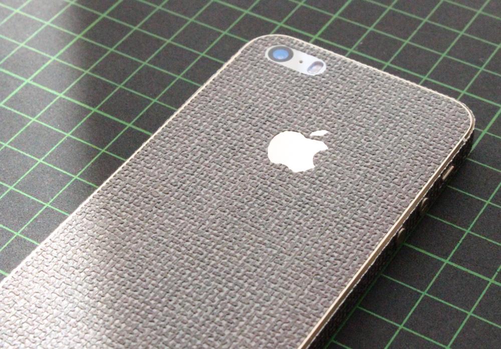 iPhone Aufkleber / Sticker 3D Struktur für iPhone 4/4S/5/5S - Leine, beige, hell