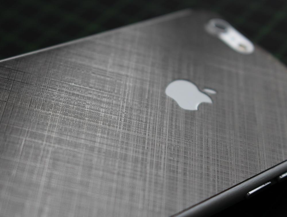 iPhone 6 / 6S / 6 Plus / 6S Plus / 7 Aufkleber / Sticker / Skin. 3D Aufkleber für die Rückseite. - Schraffur