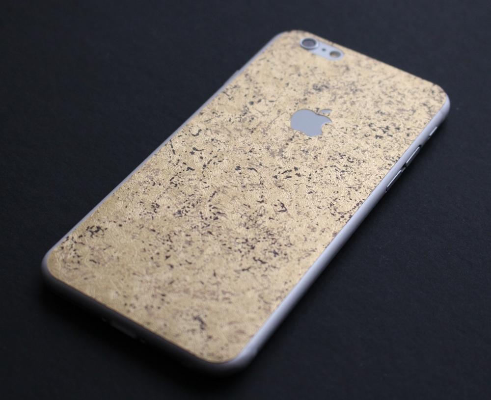 iPhone 6 / 6S / 6 Plus / 6S Plus Aufkleber / Sticker / Skin. 3D Aufkleber für die Rückseite. - Goldrausch