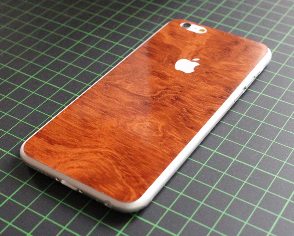iPhone 6 / 6S / 6 Plus / 6S Plus Aufkleber / Sticker / Skin. 3D Aufkleber für die Rückseite. - Wurzelholz