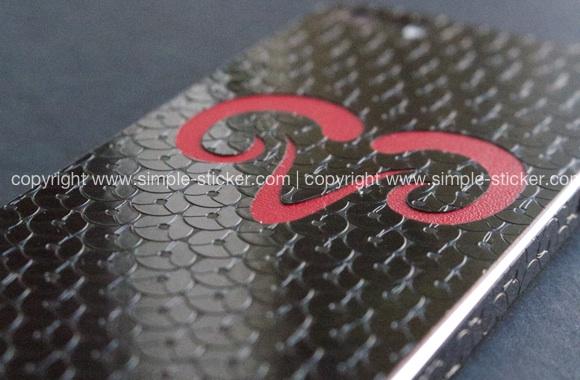 iPhone Aufkleber / Sticker 3D Struktur für iPhone 4/4S/5/5S - Sternzeichen Widder - Sternzeichen
