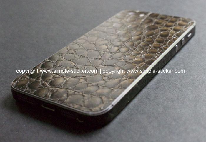 iPhone Aufkleber / Sticker 3D Struktur für iPhone 4/4S/5/5S - Alligator
