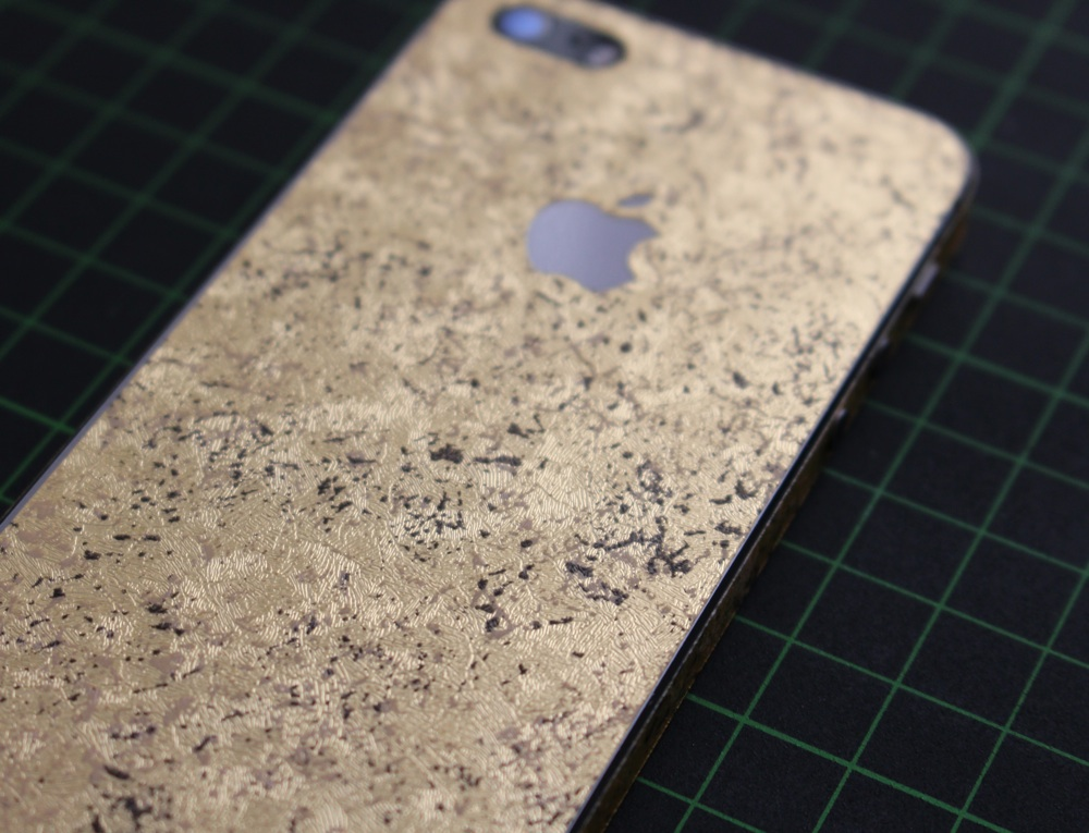 iPhone Aufkleber / Sticker 3D Struktur für iPhone 4/4S/5/5S - Goldrausch