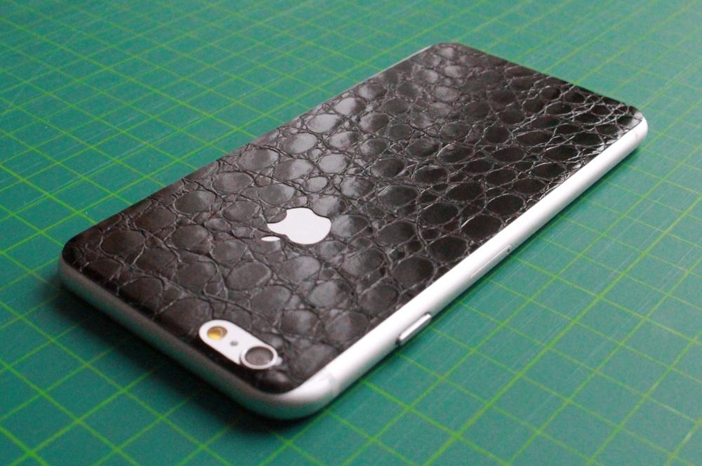 iPhone 6 / 6S / 6 Plus / 6S Plus Aufkleber / Sticker / Skin. 3D Aufkleber für die Rückseite. - Alligator Black - Sonderedition