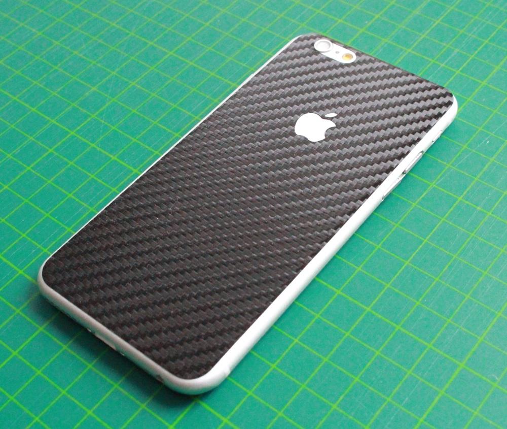 iPhone 6 / 6S / 6 Plus / 6S Plus / 7 Aufkleber / Sticker / Skin. 3D Aufkleber für die Rückseite. - Carbon