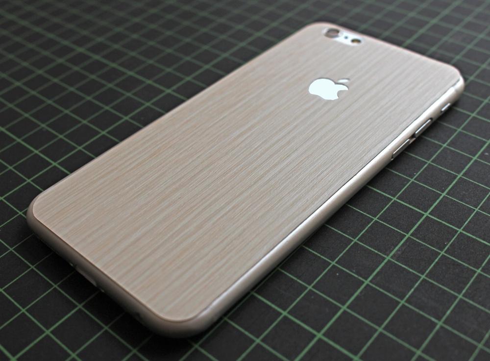 iPhone 6 / 6S / 6 Plus / 6S Plus / 7 Aufkleber / Sticker / Skin. 3D Aufkleber für die Rückseite. - 3D Holz, beige