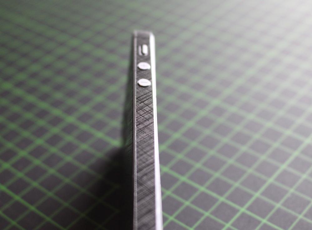 iPhone Aufkleber / Sticker 3D Struktur für iPhone 4/4S/5/5S - Schraffur