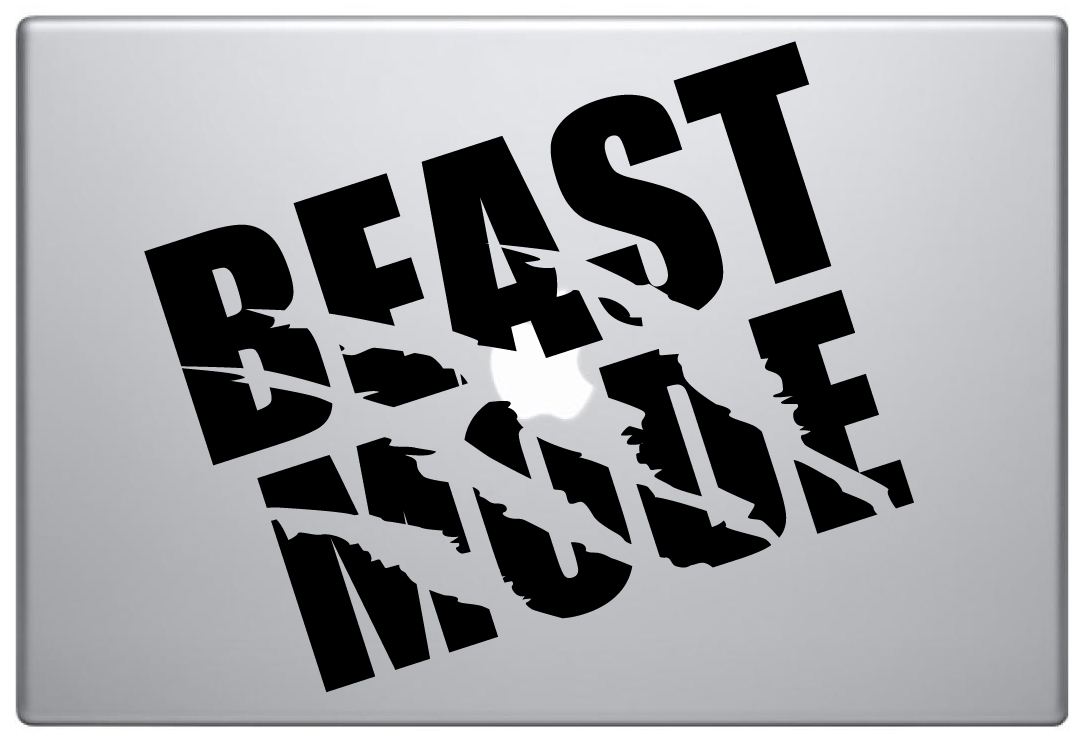 MacBook Aufkleber / Decal - Beast Mode