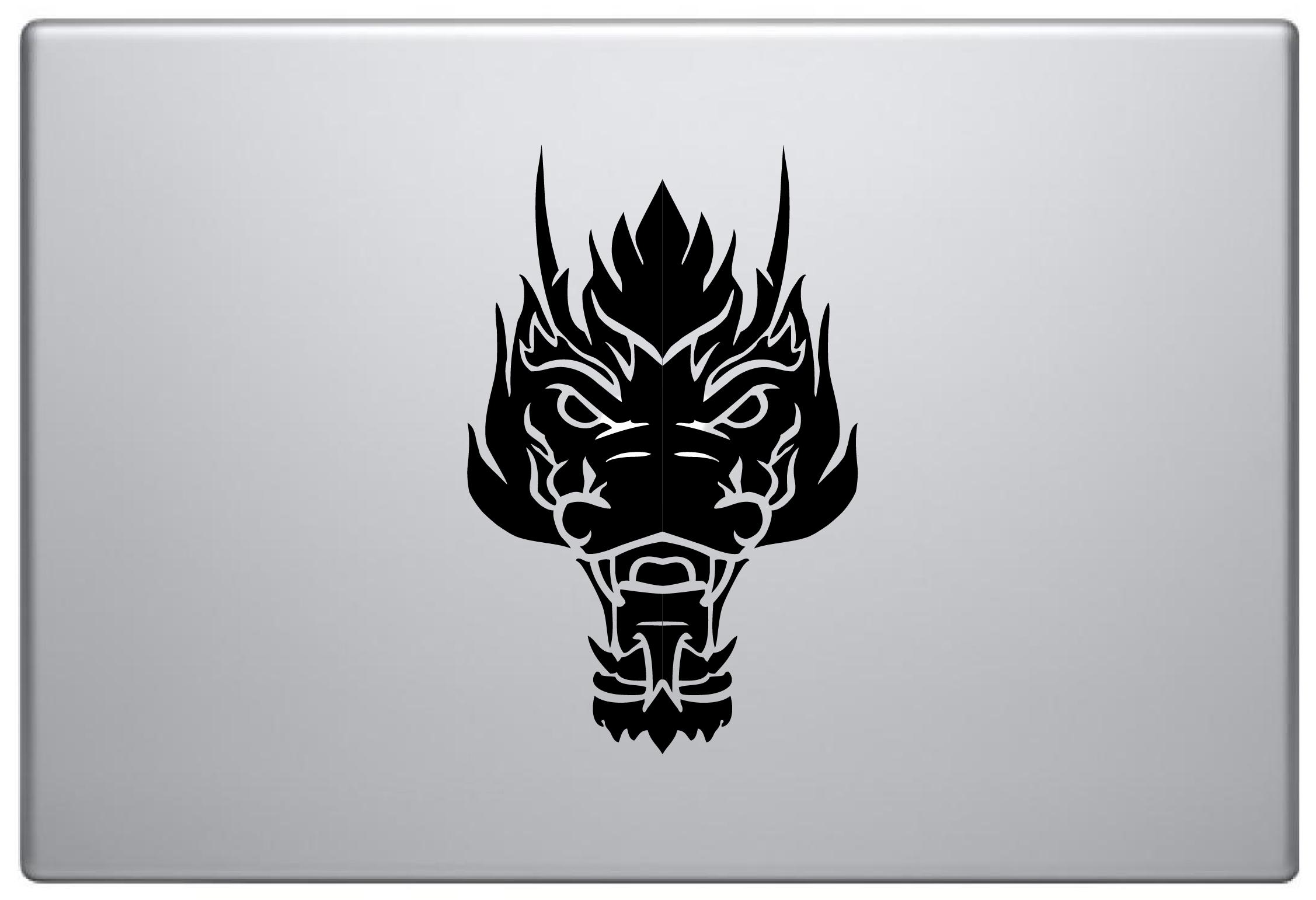 MacBook Aufkleber / Decal - Drachenkopf